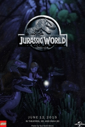 Jurassic World poster LEGO-Fied