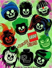 Suicide Squad poster LEGO-fied