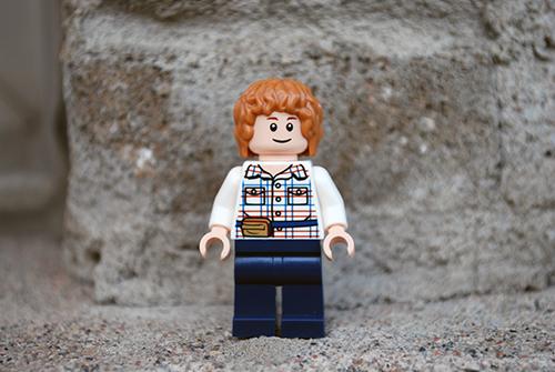 LEGO Jurassic World Gray Minifigure Front