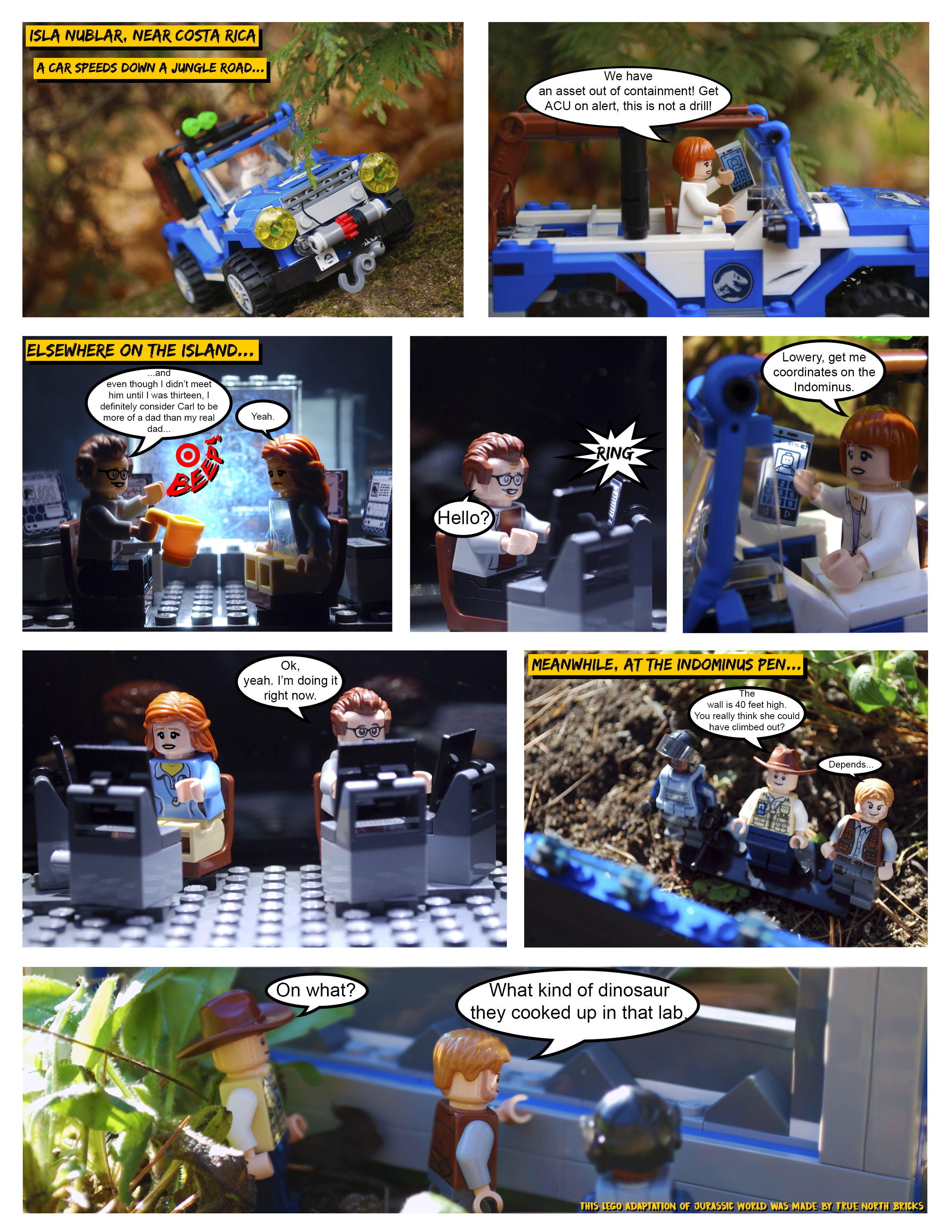 Lego Jurassic World Comic Part I True North Bricks