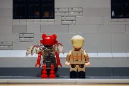 LEGO Ghostbusters Mayhem & Kevin rear view.