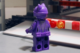 LEGO Catwoman rear view.
