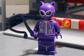 LEGO Catwoman front view with alternate face.