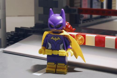 LEGO Batgirl front view.