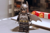 LEGO Batman, unarmoured front view.