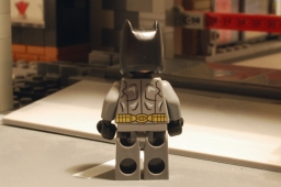 LEGO Batman, rear view.