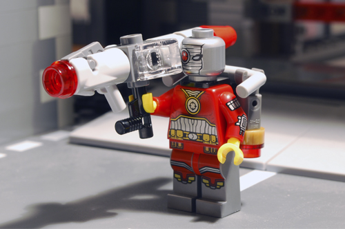 LEGO Deadshot all geared up.
