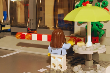 LEGO Pizza Van customer - rear view