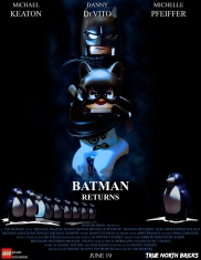 Batman Returns poster LEGO-fied