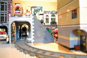 A view of my LEGO train tunnel.