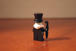LEGO Penguin rear view.