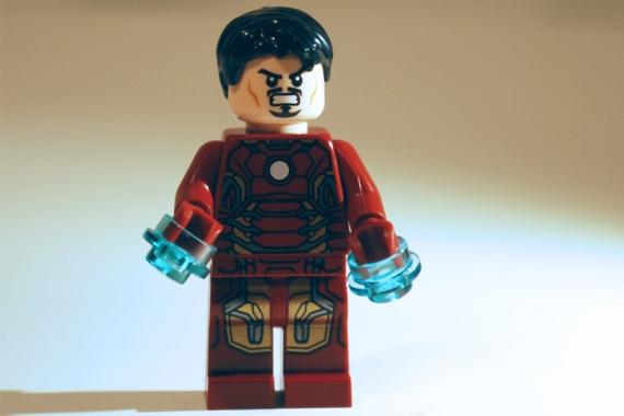 LEGO Iron Man unmasked.