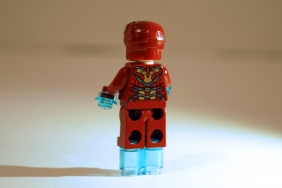 LEGO Iron Man rear view.