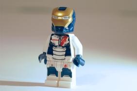 LEGO Iron Legion front view.