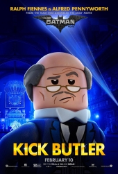 LEGO Alfred Poster