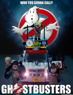 Ghostbusters poster LEGO-fied