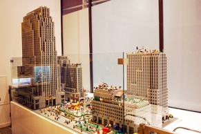 Rockefeller Center made of LEGO.