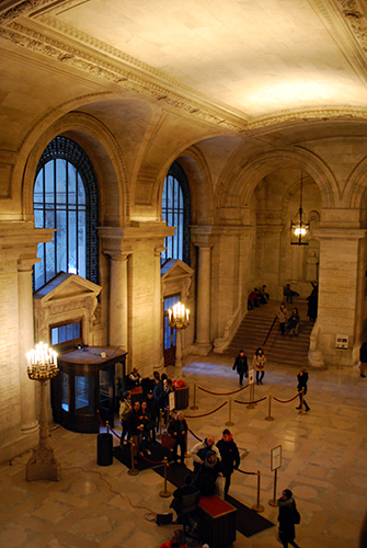 New York Public Library Entrance