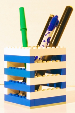 A simple LEGO pencil holder.