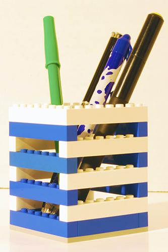 A simple LEGO pencil holder.