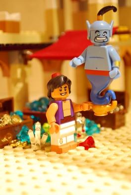 LEGO Aladdin and Genie