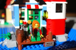 LEGO Lighthouse Point child Minifig front view.