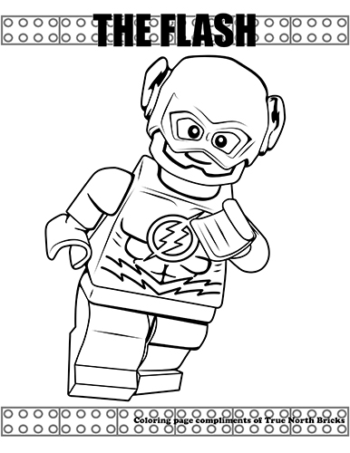 lego flash coloring pages Coloring Page – The Flash | True North Bricks lego flash coloring pages