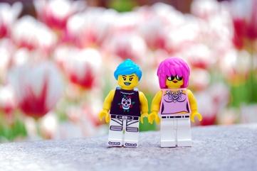 LEGO Minifigures at the Montreal Botanical Gardens.