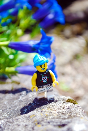 LEGO Minifigures at the Montreal Botanical Gardens.