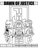 Dawn of Justice coloring page