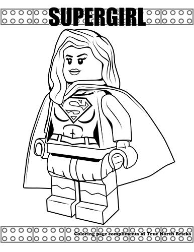 coloring page supergirl true north bricks