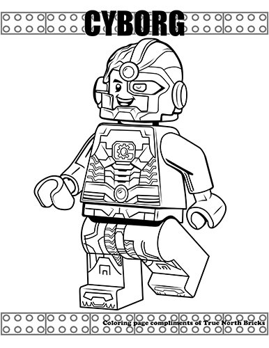 cyborg coloring pages Coloring Page: Cyb| True North Bricks cyborg coloring pages