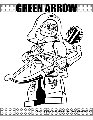 green arrow coloring pages Coloring Page: Green Arrow | True North Bricks green arrow coloring pages