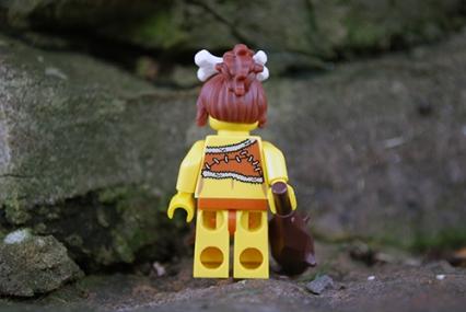 LEGO cavewoman rear view