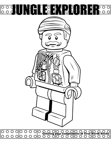 Sample Of The Jungle Explorer Coloring Page