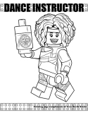 Fitness Instructor coloring page