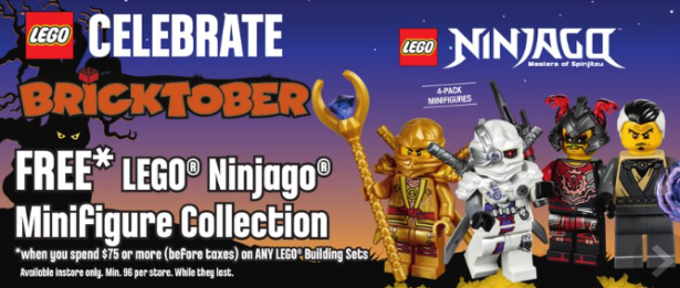 Toys R Us LEGO freebie Sept, 28 - Oct.5