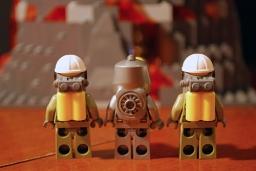 Rear view of volcano crew