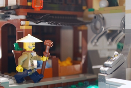 LEGO Ninjago City fish market.