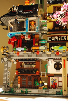 LEGO Ninjago City from the side.