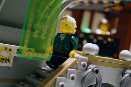 Lloyd out for a stroll in LEGO Ninjago City.