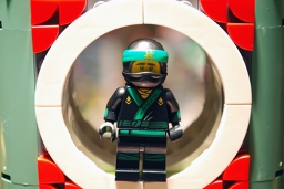 The Green Ninja in LEGO Ninjago City.