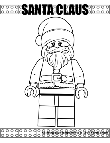 Coloring Page – Santa Claus | True North Bricks