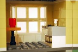LEGO Park Street Townhouse (31065) kitchen.