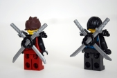LEGO Dragon's Forge (70627) Kai & Nya - rear view.