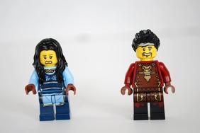 LEGO Dragon's Forge (70627) Ray & Maya - alternate faces.