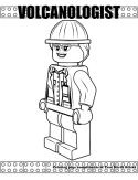 Volcanologist coloring page.