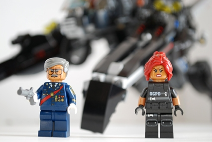 Front view of the Gordons from the LEGO Scuttler set.
