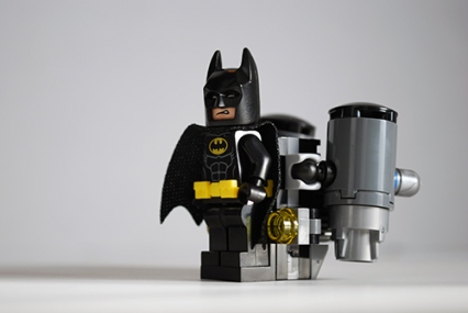 Front view of Batman's jet pack from the Scuttler.
