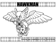 Hawkman coloring page.